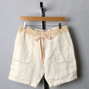 ANTHROPOLOGIE HEI HEI Linen and Lace Shorts Sz 27